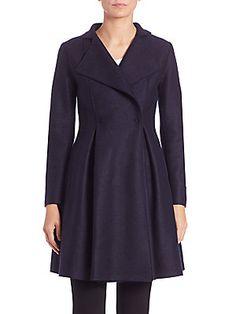 Harris Wharf London Flairy Pressed Wool Coat