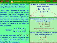 15 Ideas De Sistemas De Ecuaciones Sistemas De Ecuaciones Ecuaciones Matematicas
