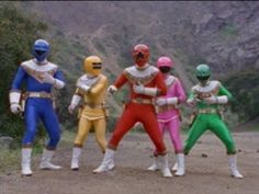 Power Rangers vs Wolfbane in Power Rangers Zeo. The Power Rangers morph into action for their battle against Wolfbane. The Gold Ranger arrives to even the od. Power Rangers Morph, Power Rangers Zeo, Power Ranges, Ronald Mcdonald, Fictional Characters, Creative, Gold, Fantasy Characters, Yellow