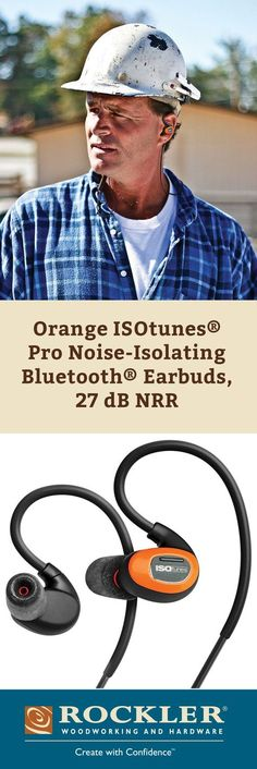 ISOtunes Pro Noise-Isolating Bluetooth Earbuds let you tune in the sounds you want to hear, like music and phone conversations, and tune out the ones you don't, like power tools, lawn mowers and vacuums. And thanks to Bluetooth wireless technology, you'll enjoy all of this without any messy cords.