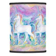 Watercolor Unicorns Lamp Shade - horse animal horses riding freedom