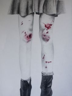 drawing art My art Grunge bruises cuts pastels artist on tumblr pencil drawing
