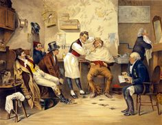 Decor Victorian Poster From Painting.Barbershop.Shop Barber Art Design.1002A