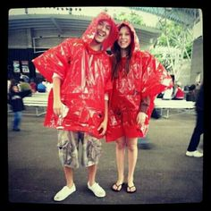 In our ponchos! Lol Indian Summer 2012