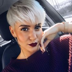 "4,649 Likes, 31 Comments - The Cut Life (@thecutlife) on Instagram: ""Bomb! @madeleineschoen  - #thecutlife #bangs #shorthair #haircolor #silverhair #beauty"""