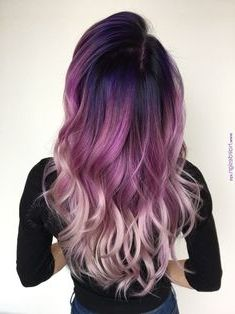 40 Stunning Purple Hair Color Ideas in 2019 40 Stunning Purple Hair Color Ideas in 2019 – Street Style Inspiration – Station Of Colored Hairs Cute Hair Colors, Beautiful Hair Color, Hair Color Purple, Hair Dye Colors, Hair Color For Black Hair, Cool Hair Color, White Hair, Pink White, Black To Purple Hair