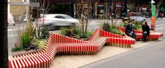 Their design features a miniature modular park that adds a bit of life to the sidewalk. This portable parklet is the first of its kind to add some life to London streets. Contemporary Plays, Courtyard Landscaping, Pocket Park, King Design, Breath Of Fresh Air, Urban Furniture, Design Competitions, London Street, Plant Design