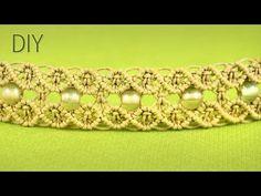 ▶ Macrame Double Wave Bracelet - Tutorial - YouTube