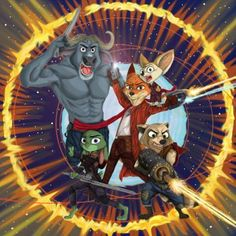 Zooguardians of the Galaxy by Ziegelzeig