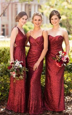 Whirlpool Galaxy 8884 Floor Length Sequin Bridesmaid Dress by Sorella Vita - Let your 'maids show off their shape in this short sequin bridesmaid gown! Featuring a V neckline, this shoestring-strap gown ruches to hug curves. Sorella Vita Bridesmaid Dresses, Red Bridesmaids, Mismatched Bridesmaid Dresses, Burgundy Bridesmaid Dresses, Wedding Bridesmaid Dresses, Burgundy Wedding, Christmas Bridesmaid Dresses, Fall Wedding, Wedding Aisles
