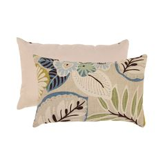 Feel more comfortable when lounging around on your couch or bed with this contemporary decorative throw pillow. The shape is perfect for tucking behind your back for extra comfort, and the floral pattern in neutral colors work with different couches.