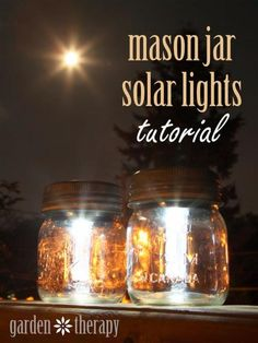 Mason Jar Solar Lights Tutorial from www.gardentherapy.ca