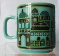 "Hornsea Pottery ""Cathedral"" Mug John Clappison 1976 Portmeirion Pottery, Hornsea Pottery, Vintage Ceramic, Ss16, Heavenly, Den, Cathedral, Lamps, England"