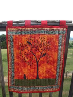Primitive Wall Quilt  Original Design Hand by FolkArtDreams, $90.00