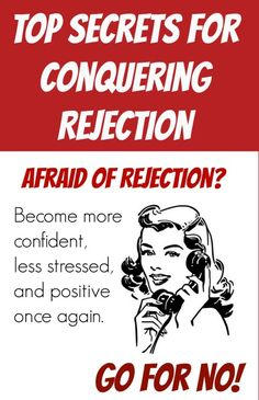 Learn why 'Go for No' is the key is overcoming fear of rejection once and for all. www.goforno.com/Notivation
