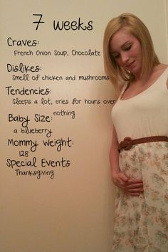 7 weeks pregnant. Neat idea for documentary