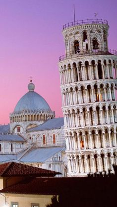 The Leaning Tower of Pisa, Pisa Cathedral,  Italy**.