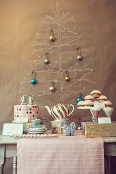 @Emily Crane- for when you do not have space for a Christmas tree in the floor! Sparkly Christmas Tea Party