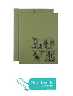 Love Valentine's Day Cards - Kraft brown Greeting Card with vintage floral patterned letters - 10 Pack or single - blank - hand stamped from Embellish by Jackie http://www.amazon.com/dp/B01AQ7ZZ7E/ref=hnd_sw_r_pi_dp_M1IOwb0AR16X0 #handmadeatamazon