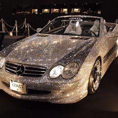 Swarovski Crystal encrusted Mercedes SL500.