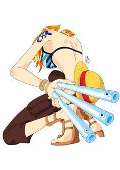 One Piece, Nami, arc Skypia Monkey D Luffy, One Piece Anime, One Piece Luffy, Zoro, Luffy X Nami, Boca Anime, Manga Anime, Nami Swan, One Piece Cosplay