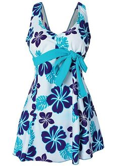 Open Back Printed Bowknot Embellished Swimdress on sale only US$30.53 now, buy cheap Open Back Printed Bowknot Embellished Swimdress at liligal.com