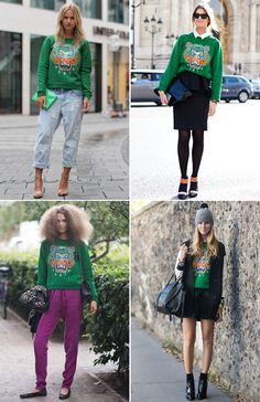 kenzo green. #sweater #sweatshirt #tiger