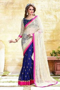 # designer # sarees @ http://zohraa.com/cream-faux-georgette-saree- z2546p2105-2.html # celebrity # zohraa # onlineshop # womensfashion # womenswear # bollywood #look # diva # party # shopping # online # beautiful # beauty #glam # shoppingonline # styles # stylish # model # fashionista # women # lifestyle #fashion # original # products # saynotoreplicas
