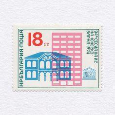 94th UNESCO Executive Board Session Varna (18CT). Bulgaria, 1974. Design: Stefan Kanchev #mnh #graphilately