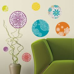 RoomMates RMK1707SCS Patterned Dots Peel & Stick Wall Decals - Amazon.com