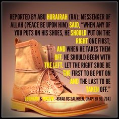 Manner of wearing shoes (#Islam)
