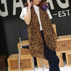Leopard & cute animals designer Fashion scarf for women's clothing at a cheap price.