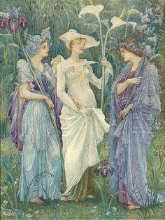 "Walter Crane, ""Ensigns of Spring"""