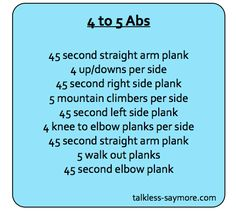 4 to 5 ab workout