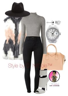 """""""Untitled #2945"""" by stylebydnicole ❤ liked on Polyvore featuring Rebecca Taylor, Givenchy, Barbara Bui, J Brand, Giuseppe Zanotti, rag & bone and Rolex"""