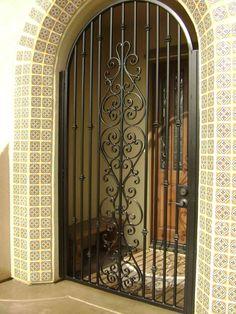 Ideas for steel front door security screen Wrought Iron Security Doors, Security Gates, Security Screen, Wrought Iron Doors, Window Security Bars, House Security, Steel Security Doors, Iron Front Door, Front Doors With Windows