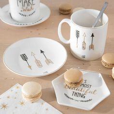 Mug motif flèche en porcelaine PAN