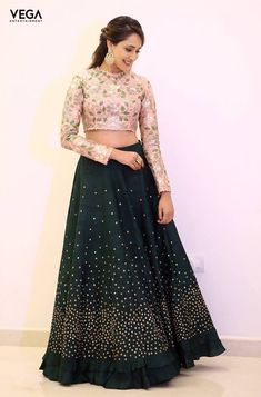 Pragya Jaiswal was so much fun attending the Annual day at SVET Tirupati on MohanBabu Sir's bday. Wore the most stunning lehenga by Divya Reddy Label beautiful jewelry by Belleza styled by girls Anisha Gandhi & Rochelledsa Indian Bridal Lehenga, Indian Gowns, Indian Attire, Indian Wear, Pakistani Bridal, Choli Designs, Lehenga Designs, Blouse Designs, Indian Wedding Outfits