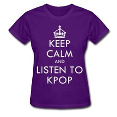 Fyzzed - Keep Calm and Listen to Kpop tshirt - $16.30