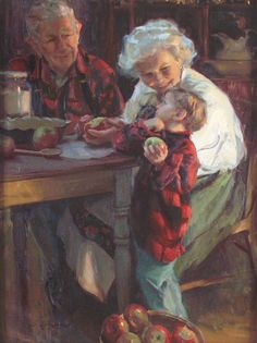 'Grandma's Smile' By Daniel F. Gerhartz Love this.....my Grandmother, my Mom and Myself