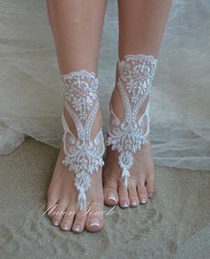 lace barefoot sandals beach wedding barefoot sandals beach Bare Foot Sandals, Beach Sandals, Barefoot, Peep Toe, Cook, Weddings, Trending Outfits, Unique Jewelry, Heels
