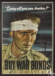 WWII Doing all you can, brother? poster, professionally framed, 39 1/2'' x 28''.