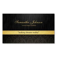 Professional Elegant Damask Business Cards. Make your own business card with this great design. All you need is to add your info to this template. Click the image to try it out!