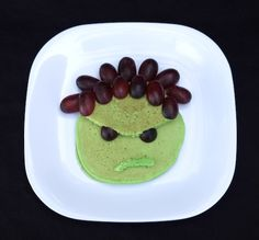 Add some green food coloring to your favorite #pancake recipe to make these Incredible Hulk Pancakes for your little superhero.