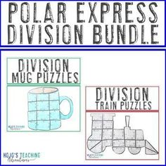 DIVISION Polar Express Math Activities - FUN Hot Cocoa Mug Polar Express Activities, Math Activities, Fast Finishers, Maths Puzzles, Critical Thinking Skills, 5th Grades, Ways To Save Money, Small Groups, Hot Chocolate