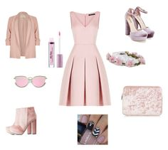 """""""Light pink girly outfit"""" by afedoruk on Polyvore featuring BCBGMAXAZRIA, River Island, Charlotte Russe and JustFab"""