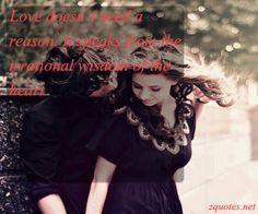 love does not need reason