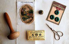 Vintage Sewing Notions by honeyandsea on Etsy, $25.00