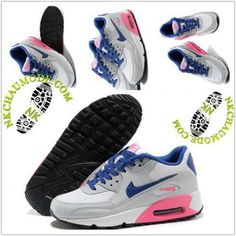 Montante | Nike Chaussure Sport Air Max 90 Femme Gris/Pourpre/Rose