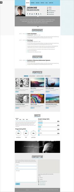 41+ HTML5 Resume Templates u2013 Free Samples, Examples Format - resume free samples